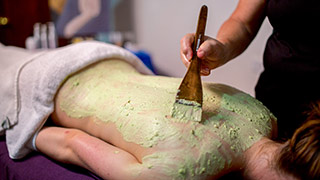 Enjoy the Aroma Touch avocado body wrap treatment