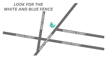 Map of the Aroma Touch clinic location at 42 Drayton Road, Toowoomba 4350