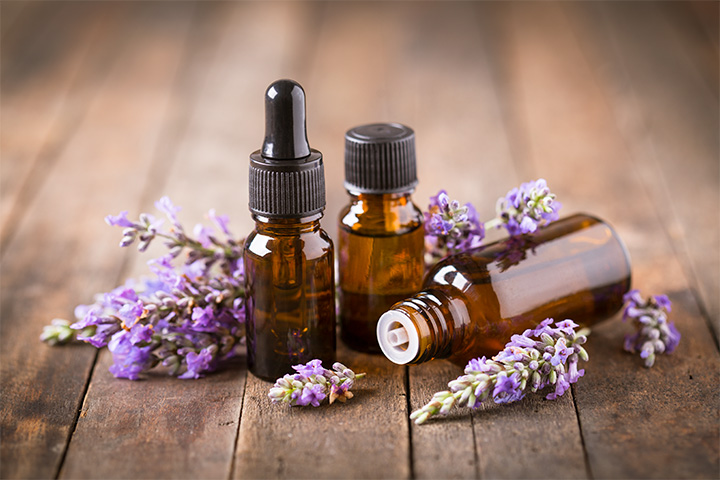 Lavender essential oil used at at Aroma Touch Massage & Relaxation Centre