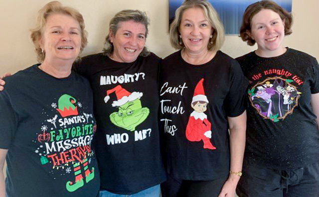 Toowoomba's Aroma Touch Massage, Beauty & Remedial Therapies Team Christmas photo